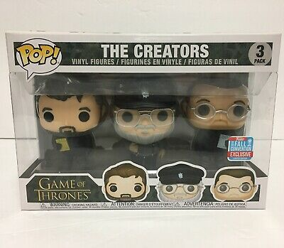 Funko Pop! Game Of Thrones: The Creators! 3 Pack Official NYCC Exclusive