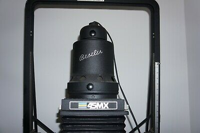 Beseler 45mx motorised photographic enlarger and darkroom accessories.