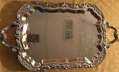 FB Rogers Silver Co Silver Plated Serving Tray 25x14.5 #6377