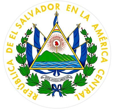 Coat of Arms of El Salvador Sticker/Car Decal Multiple Sizes