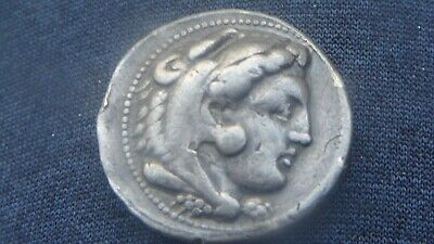real?? ancient coin pure solid silver alexander III the great real antique greek
