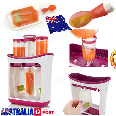 New Baby Feeding Food Squeeze Station Toddler Infant Fruit Maker Dispenser UN