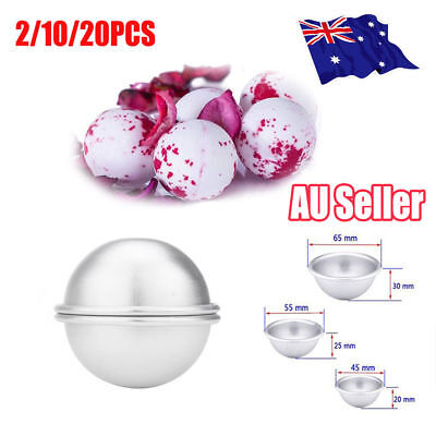 20PCS Aluminum Bath Bomb Mods DIY Homemade Crafting Bath Round Ball Moulds UN