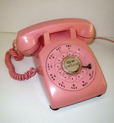 Vintage Early  Western Electric PINK C/D 500 Rotary Dial Telephone