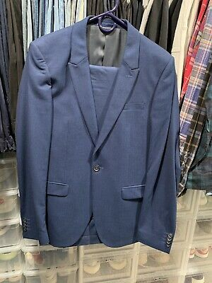 Topman Ultra Skinny Fit Suit. Navy Blue. 38R Jacket. Pants 34R