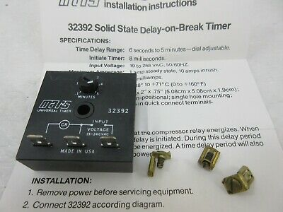 Mars Mars2 Supco Delay On Break Timer Relay 32392 TD-73 Heating, Cooling & Air Home & Garden