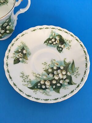 Royal Albert Flower of The Month Series May Lily of the Valley Saucer (only)