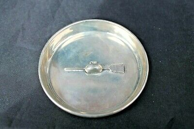 Birks Sterling Silver Dish Curling Stone & Broom Trophy Ashtray