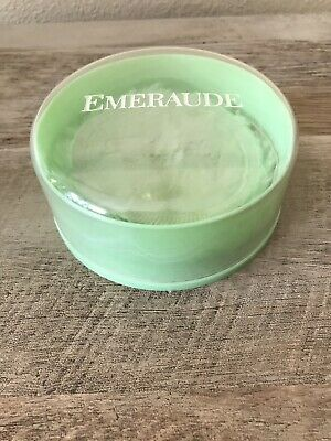 Vintage Emeraude Dusting Powder by Coty  EMPTY Container & Puff Only no powder