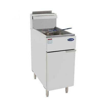 Commercial Gas Deep Fryer 2 Basket 3 Burner Quick, 2 Year Warranty- Brand New