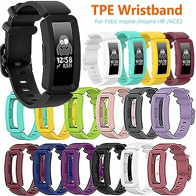 For Fitbit Ace2 Inspire/HR Watch Colorful TPE Wrist Band Watch Strap Bracelet
