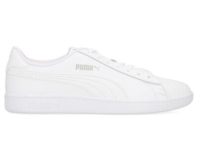 Puma Unisex Smash V2 Shoe - White AU281