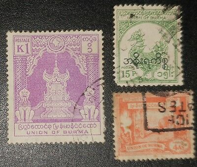 BURMA Mixed Unchecked Stamps (No2248)*