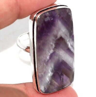 E14642 Amethyst Lace 925 Sterling Silver Plated Ring Us 8.5