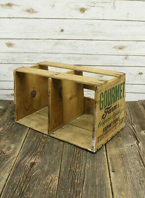 Antique Gourmet Farms California Asparagus Wooden Grocery Delivery Crate 19.5""