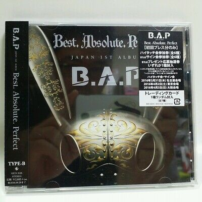 CD B.A.P BAP Japan 1st Album Best. Absolute. Perfect TYPE-B with Photocard NEW