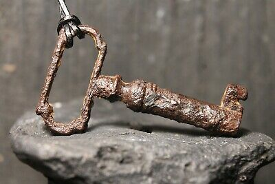 Ancient Iron Medieval Key, Rare Authentic Amulet, 15th-18th century AD.