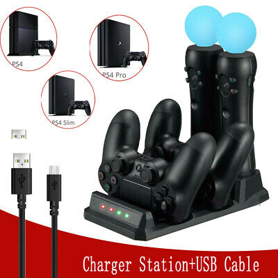 4in1 Charger Charging Dock Holder Stand Station For PS4 PS Move Controller VR UK