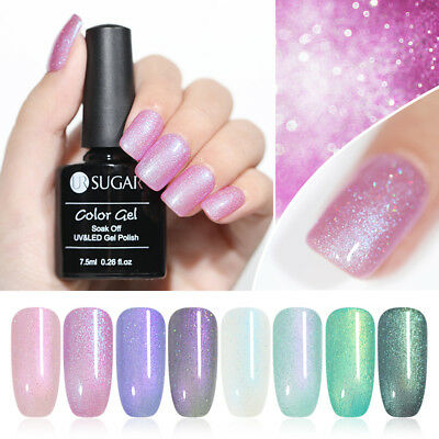 UR SUGAR 7.5ml Chameleonic Shell UV Gel Polish Glitter Soak Off Nail Gel Varnish