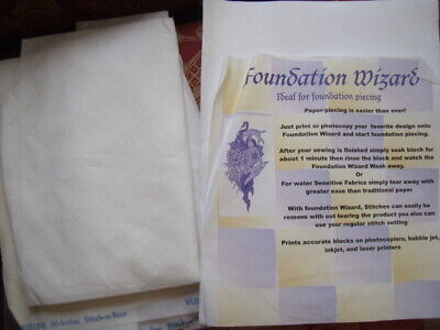 foundation wizard foundation piecing paper + stitch-n-tear paper