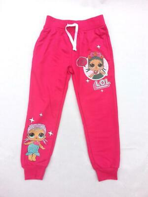 Girls Kids Official LOL Surprise Pink Joggers Sweatpants Tracksuit Bottoms