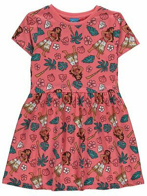 George Girls Kids Official Disney Moana Printed Jersey Dress