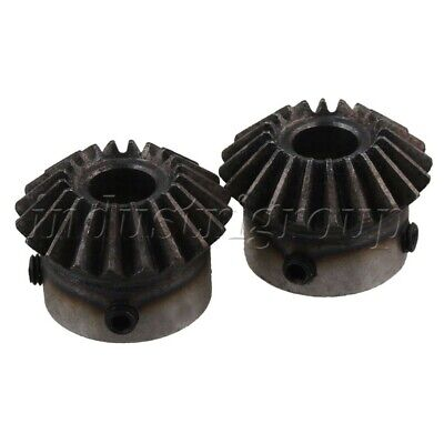 2X BEVEL GEAR 20 teeth helical gear Bevel gear 90° drive
