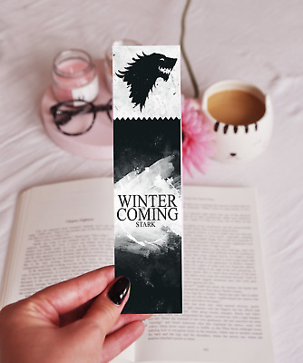 Winter Is Coming - Laminated Bookmark - Game Of Thrones - House Of Stark - Gift