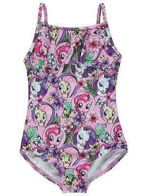 George Girls Kids Official My Little Pony MLP Shimmering Swimming Costume 7-8