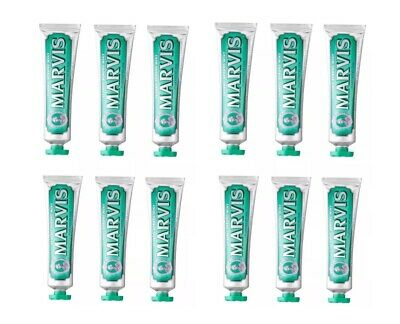 Marvis Classic strong mint toothpaste 85ML Pack Of  12 (new & Boxed)