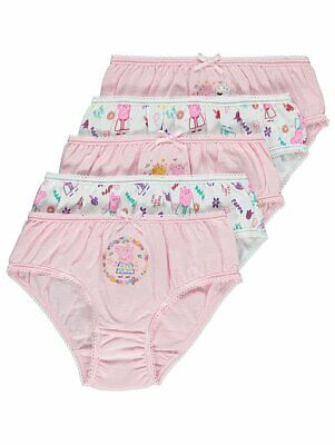 George Girls Kids Official Peppa Pig Briefs Knickers Underwear 5 Pack