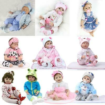 Realistic Reborn Dolls Baby Lifelike Vinyl Fake Girl Boy Newborn Xmas Gift Toy