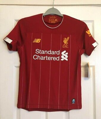 Liverpool Home Shirt 2019 2020 Kids Size/Age 11-12 (Lb) Brand New With Tags