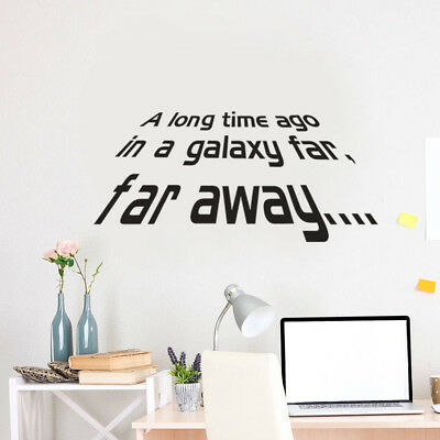 A long Time Ago Quote Star Wars Vinyl Art Wall Sticker Decals Home Decor LA3