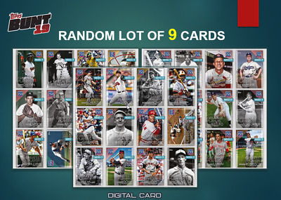 2019 150 YEARS OF BASEBALL GREATEST PLAYER W2 RANDOM LOT OF 9 Topps Bunt Digital