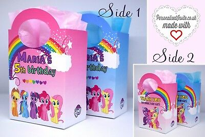Sweets Boxes Personalised My Little Pony Party Loot Bags Favour Treat Gift