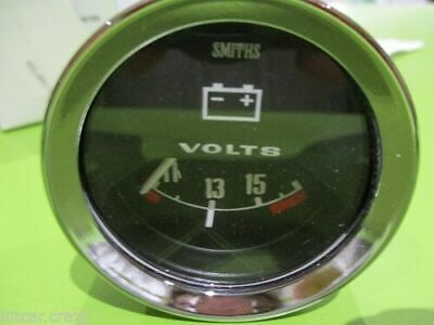 Smiths Analogue Voltmeter , 50Mm Black Face With Chrome , Mini , Mg, Gae122