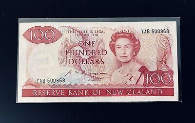 New Zealand 100 Dollars XF 1989 P175b Very Rare High Value / No Reserve