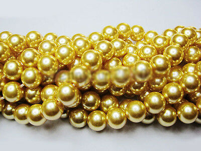 100Pcs Wholesale Top Quality Czech Glass Pearl Round Beads  6mm