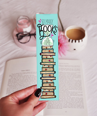 So Many Books So Little Time - Laminated Bookmark - Fun Quote Design -Great Gift
