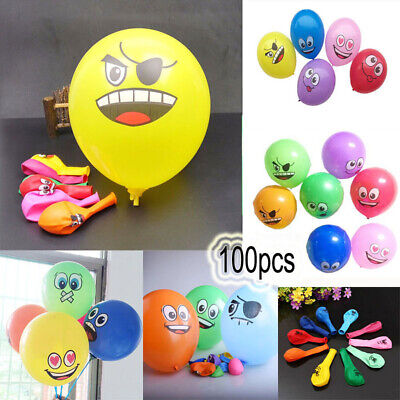 Happy Wedding Holidays Big Eyes Smiley Decoration Birthday Party Latex Balloon
