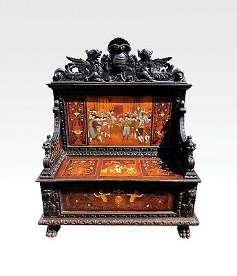 19Th Century Italian Carved Settle / Bench