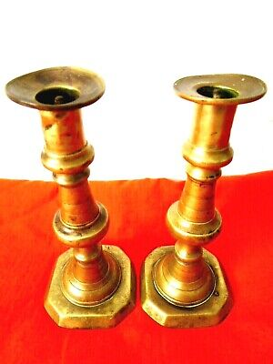 Antique 1900's Pair of Copper Candlesticks