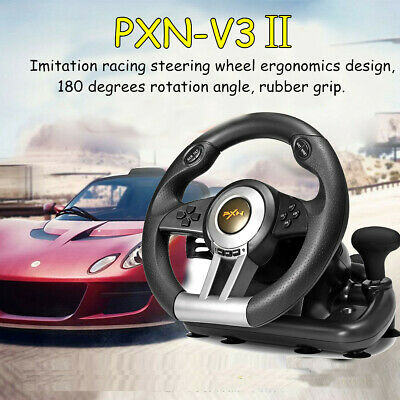 PXN V3II Game Racing Steering Wheel With Brake Pedal For PC PS3 PS4 Xbox One