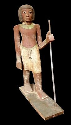 Rare Large Egyptian Royal Wooden antique Burial priest unique Sculpture statue