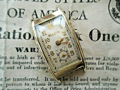Beautiful Bulova President Gents Vintage Watch.fab Engraved Case/great Dial.1937