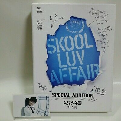 CD+2DVD BTS SKOOL LUV AFFAIR SPECIAL ADDITION Limited with JIMIN Photocard