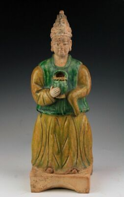 *Sc*A Rare & Large Chinese Pottery Attendant, Ming Dynasty, 1368-1644!