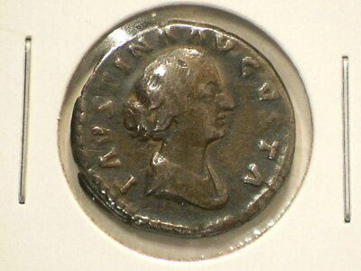 🍁 161 180 AD Ancient Silver Denarius Faustina Junior 17mm #890
