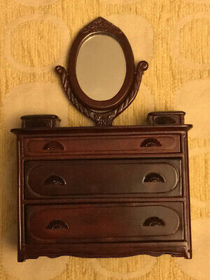 Vintage Dollhouse Miniature DRESSER with MIRROR VANITY FINE COLLECTIBLE NEW